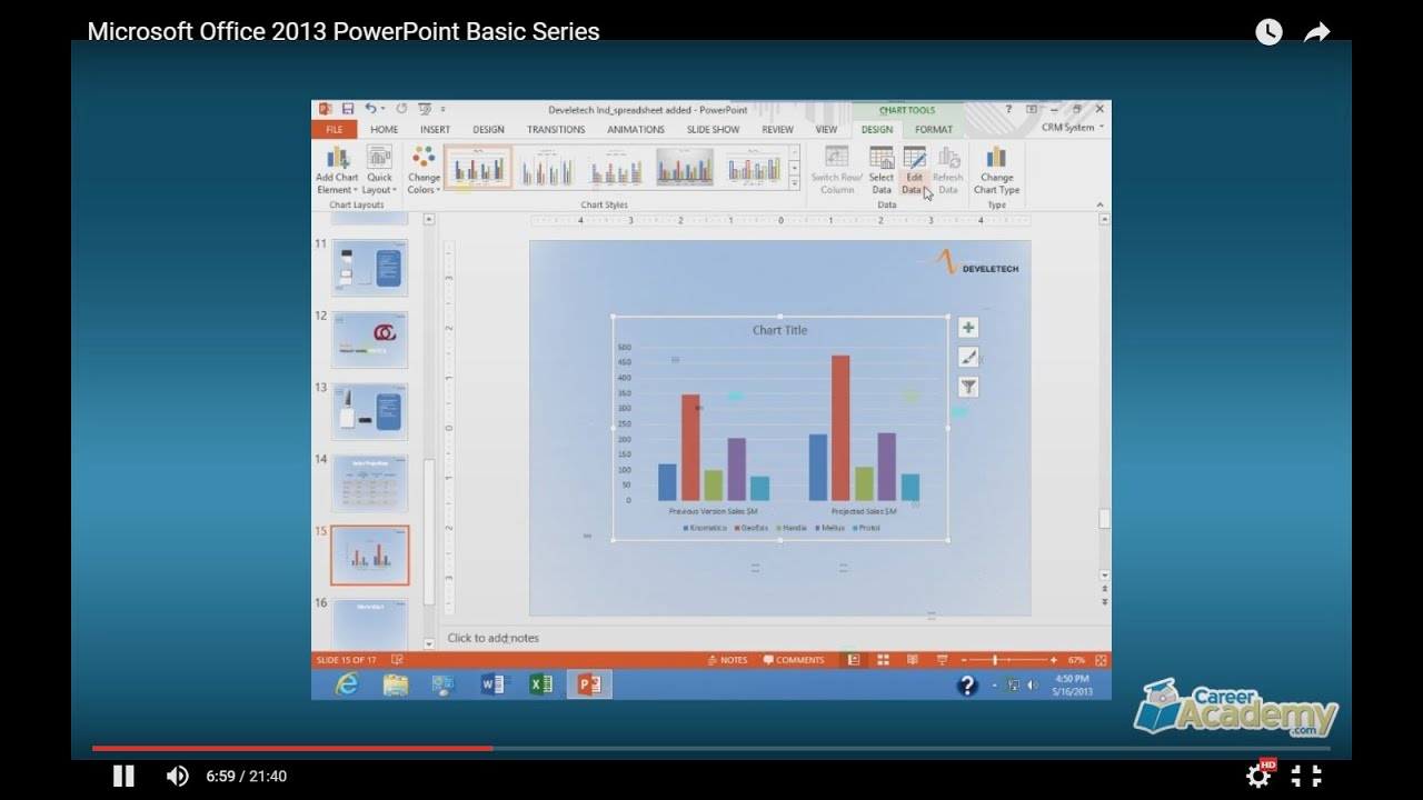 Microsoft Office 2013 Powerpoint Basic Course Series Youtube