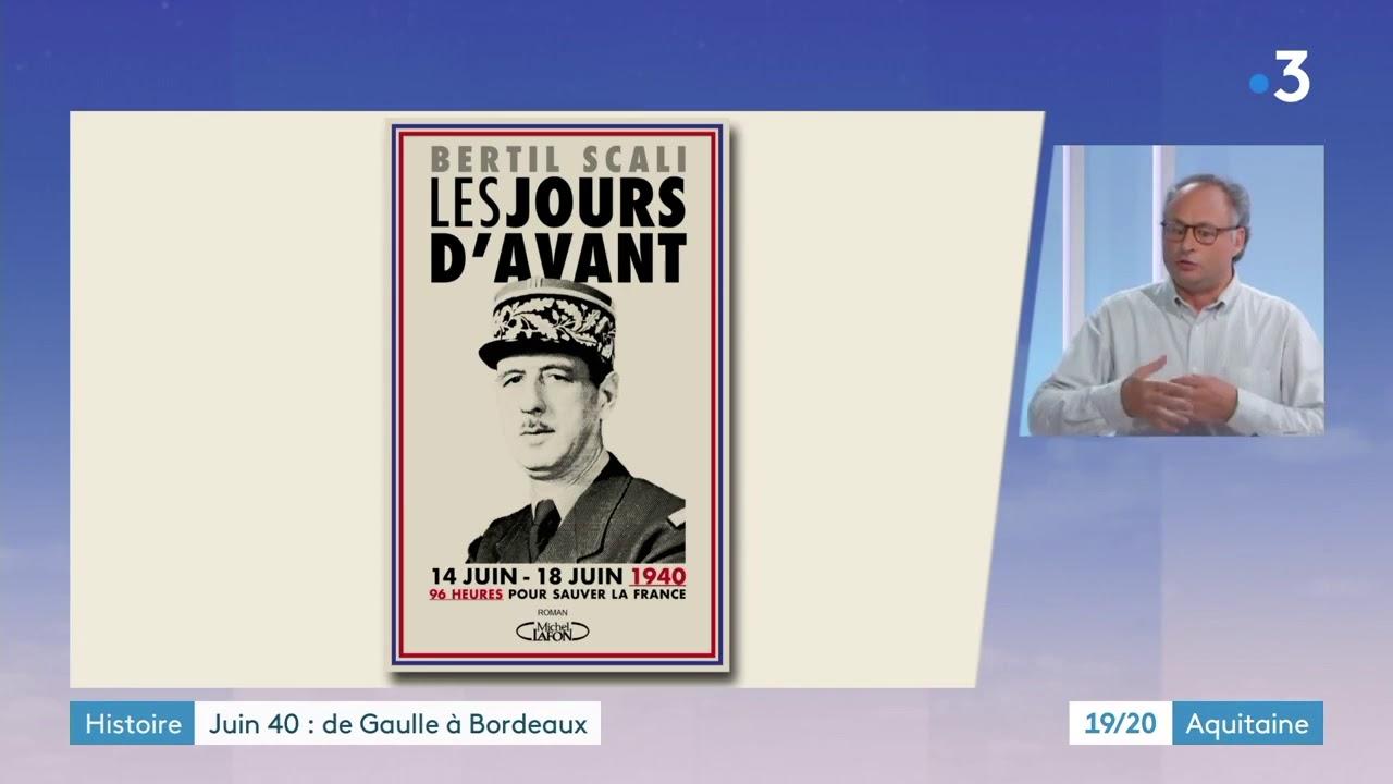 """Bertil Scali présente son livre """"Les jours d'avant"""" au 19-20 de France 3 Nouvelle Aquitaine"""