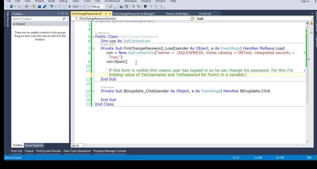 How to make login program in visual basic