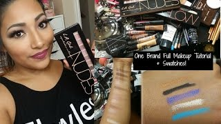 One Brand Tutorial : LA Girl Cosmetics FULL Makeup Tutorial + Swatches - Alexisjayda