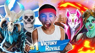 HE'S TOO GOOD! My 10 Year Old Little Brother Destroys In Fortnite Solos! Victory Royale!