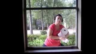 Как правильно  и быстро мыть окна губкой и стеклоочистителем.