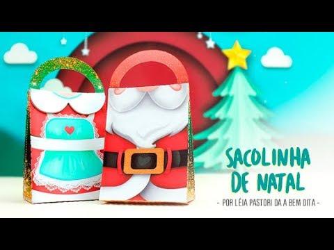 d182d7d41b1f2 Sacolinha de Natal - Molde Grátis. Silhouette Brasil