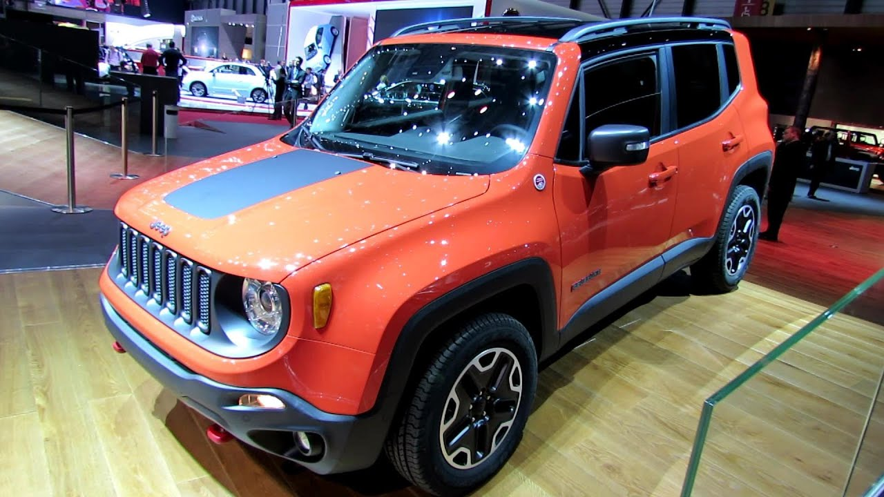 2015 jeep renegade trail hawk diesel exterior walkaround debut at 2014 geneva motor show. Black Bedroom Furniture Sets. Home Design Ideas