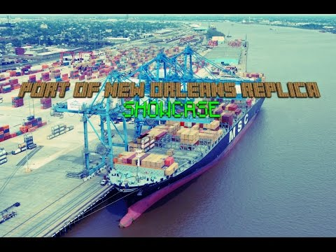 Minecraft : Port of New Orleans Replica | Container Ship & Dock | SHOWCASE