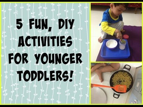 5 DIY activity ideas for younger toddlers (Free, non-toy activities!)