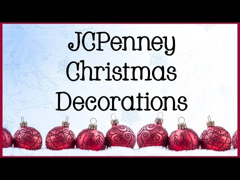 jcpenney christmas decorations 2018 shop with me