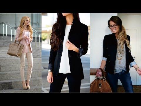 Outfits Con Jeans Y Blazer Para Mujer
