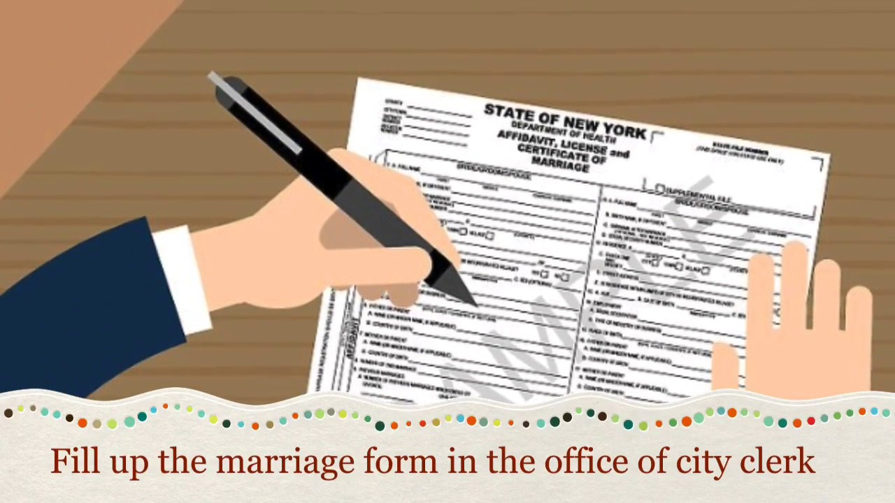 How To Get Marriage License Certificate In New York Youtube