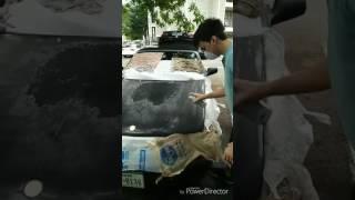 DIY Spray Paint car hood $20 Rust-Oleum
