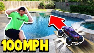 100MPH RC CAR vs MY POOL!