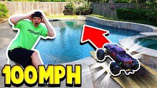 100MPH RC CAR vs MY POOL!