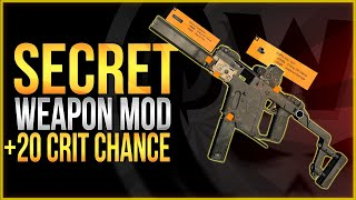 The Division 2 | SECRET Weapon Mod +20 Crit Chance - How to get crit supressor