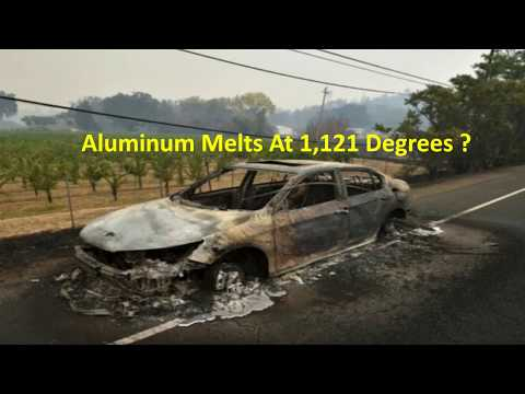 """California Fire: Car rims completely """"MELTED""""  and Car Torched Directed Energy Laser Weapon?"""