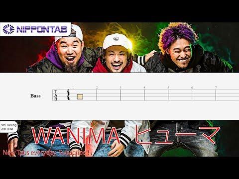 【Bass TAB】 ヒューマン Human 〚WANIMA〛 ベース tutorial & tab 譜