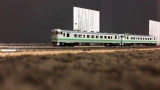 鉄道模型Nゲージ キハ40-700/1700とキハ261スーパー宗谷の交換
