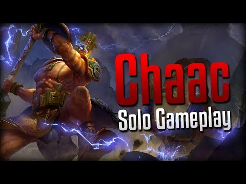 Smite: I WILL NOT BE FIRST BLOOD!- Chaac Solo Gameplay