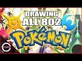 watch he video of DRAWING ALL 802+ POKEMON! (updated to Sun & Moon)