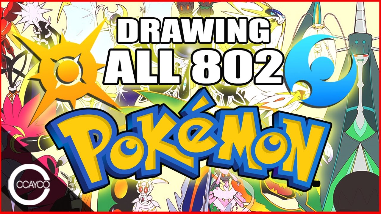 DRAWING ALL 802 POKEMON Updated To Sun Moon