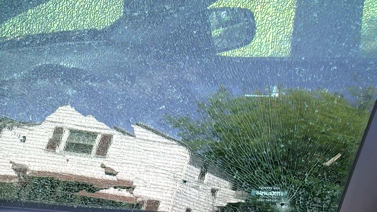 Akron car windows shot out by bb gun