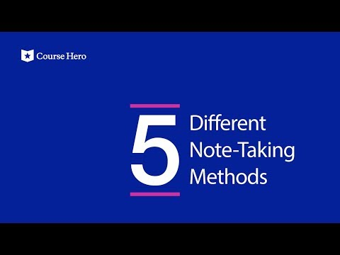 5 Different Note-Taking Methods