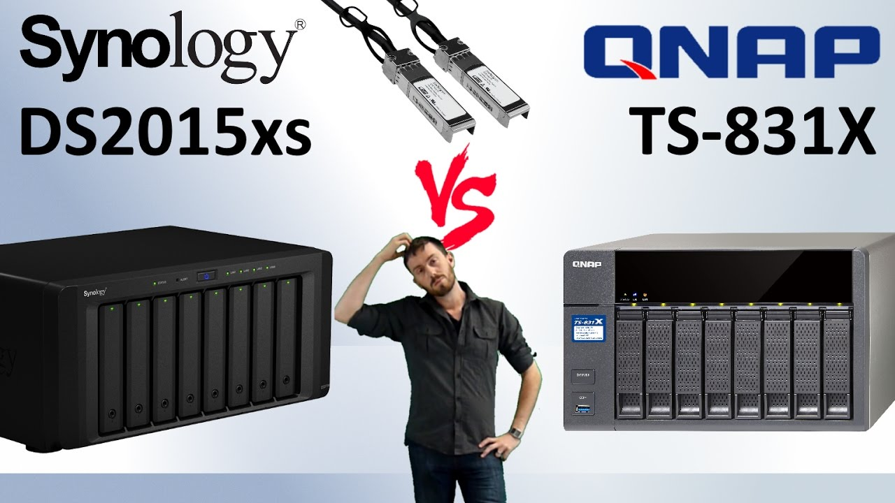 The Synology DS2015xs vs QNAP TS-831X 10GBe SFP+ NAS Faceoff - Battle of  the 8-bay NAS