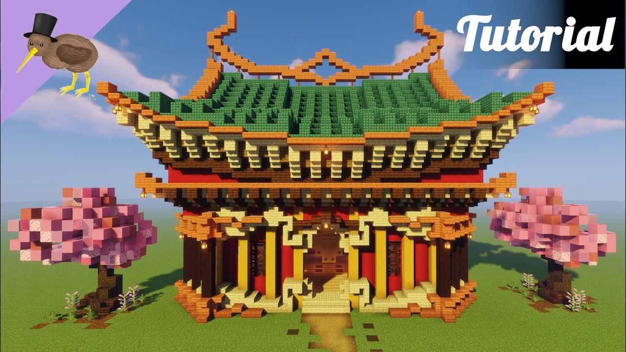 Minecraft Japanese Chinese House Tutorial Youtube