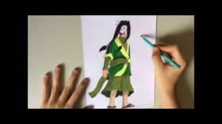 Speed Drawing - Haku Naruto - How To Draw