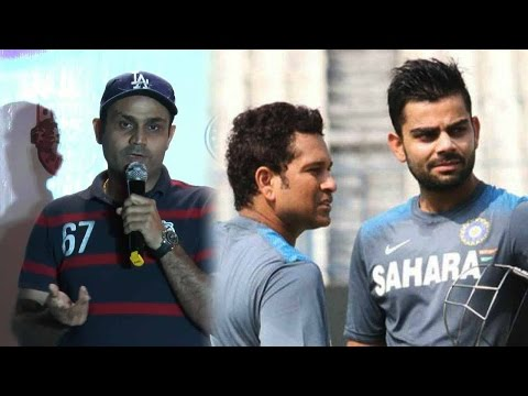 Virat Kohli is explosive but not Sachin, says Virender Sehwag ; Watch video | Oneindia News