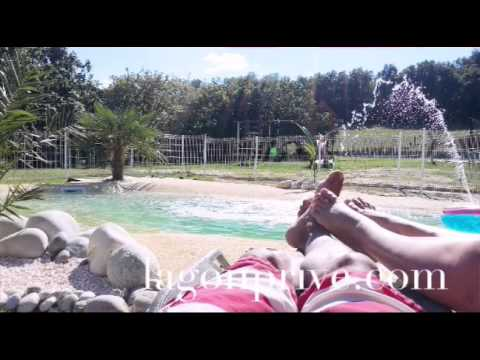 Piscine lagon plage en gomme caoutchouc youtube for Piscine lagon caoutchouc