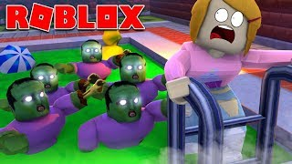 Roblox | Escape The Zombie Pool Obby With Molly!