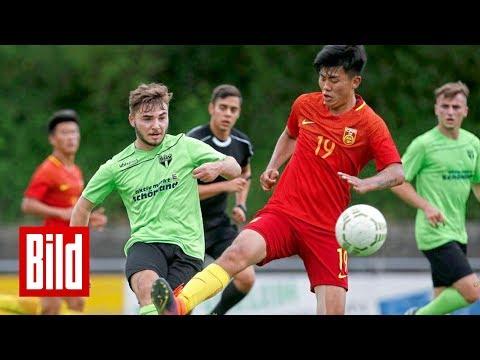 Chinas U20-Nationalmannschaft in Teistungen - BILD vor Ort