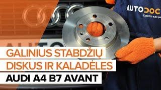 Montavimo priekyje ir gale Stabdžių Kaladėlės AUDI A4: vaizdo pamokomis