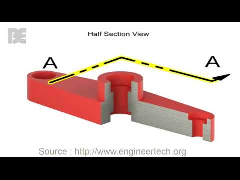 Engineering Drawing : Section Views  How to Create one?