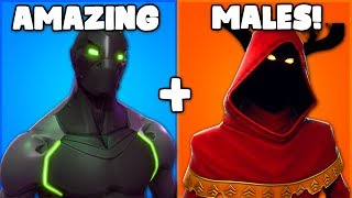the ONLY MALE skins I ACTUALLY USE in Fortnite... (male skins not so good..)