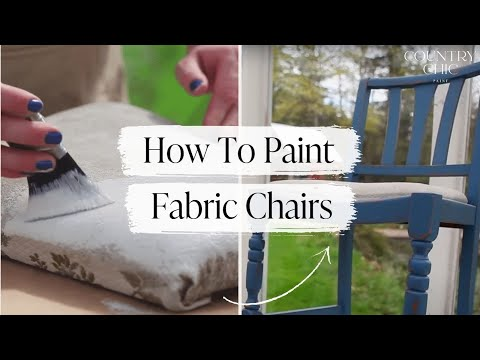 how to paint a fabric chair upholstered furniture painting tutorial youtube. Black Bedroom Furniture Sets. Home Design Ideas