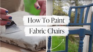 How To Paint A Fabric Chair Upholstered Furniture Painting Tutorial
