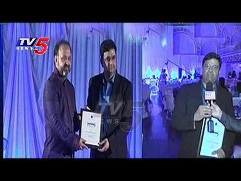 TV5 CEO Sridhar Chillara Get Indian Excellence Award in Television & Media | New Jersey | TV5 News
