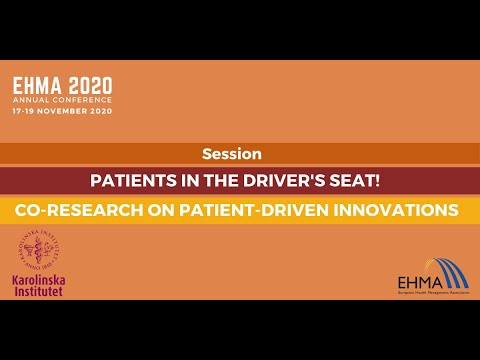 Patients In The Driver's Seat! Co-research On Patient-driven Innovations | EHMA2020