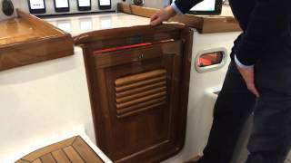 Hallberg-Rassy 43 Mark III sliding washboards