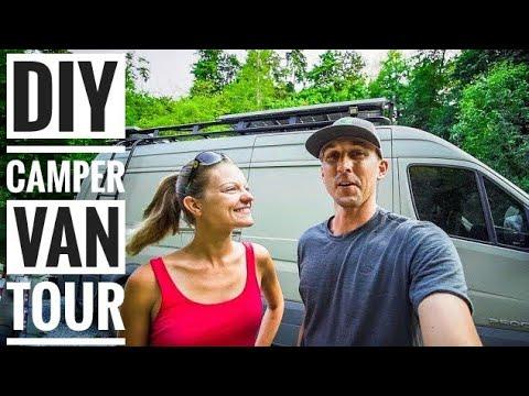 Full Van Life Tour of our Custom DIY Sprinter Camper Van! #Vanlife | Adventure in a Backpack