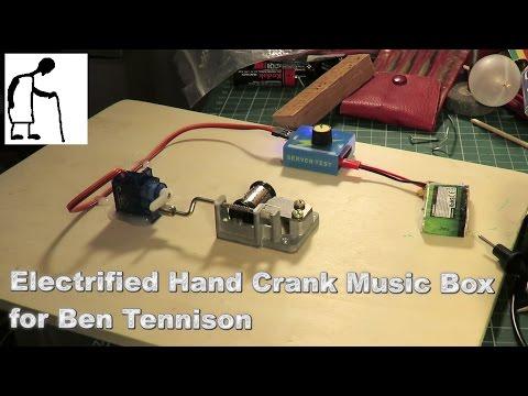 Electrified Hand Crank Music Box for Ben Tennison