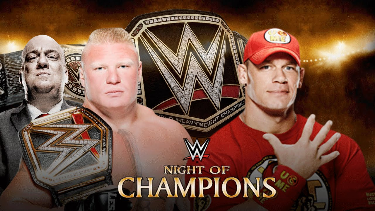 WWE Night of Champions 2014 - Brock Lesnar vs John Cena ...