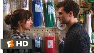 Fifty Shades of Grey (2/10) Movie CLIP - Rope, Tape and Cable Ties (2015) HD