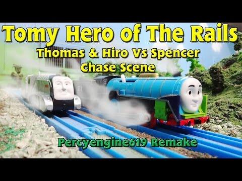 Tomy Hero of The Rails: Hiro & Thomas vs Spencer Chase Scene
