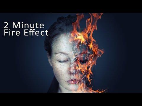 2 Minute Photoshop Fire Face Effect Photoshop Tutorial