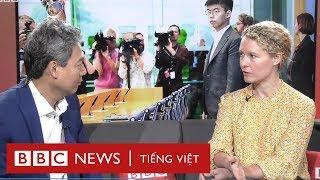 Biểu tình Hong Kong: Vì sao Hoàng Chi Phong đi vận động ở Mỹ, Đức?  - BBC News Tiếng Việt