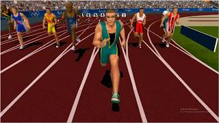 Sydney 2000 Olympic Video Game 100m Sprint 8:37 PC