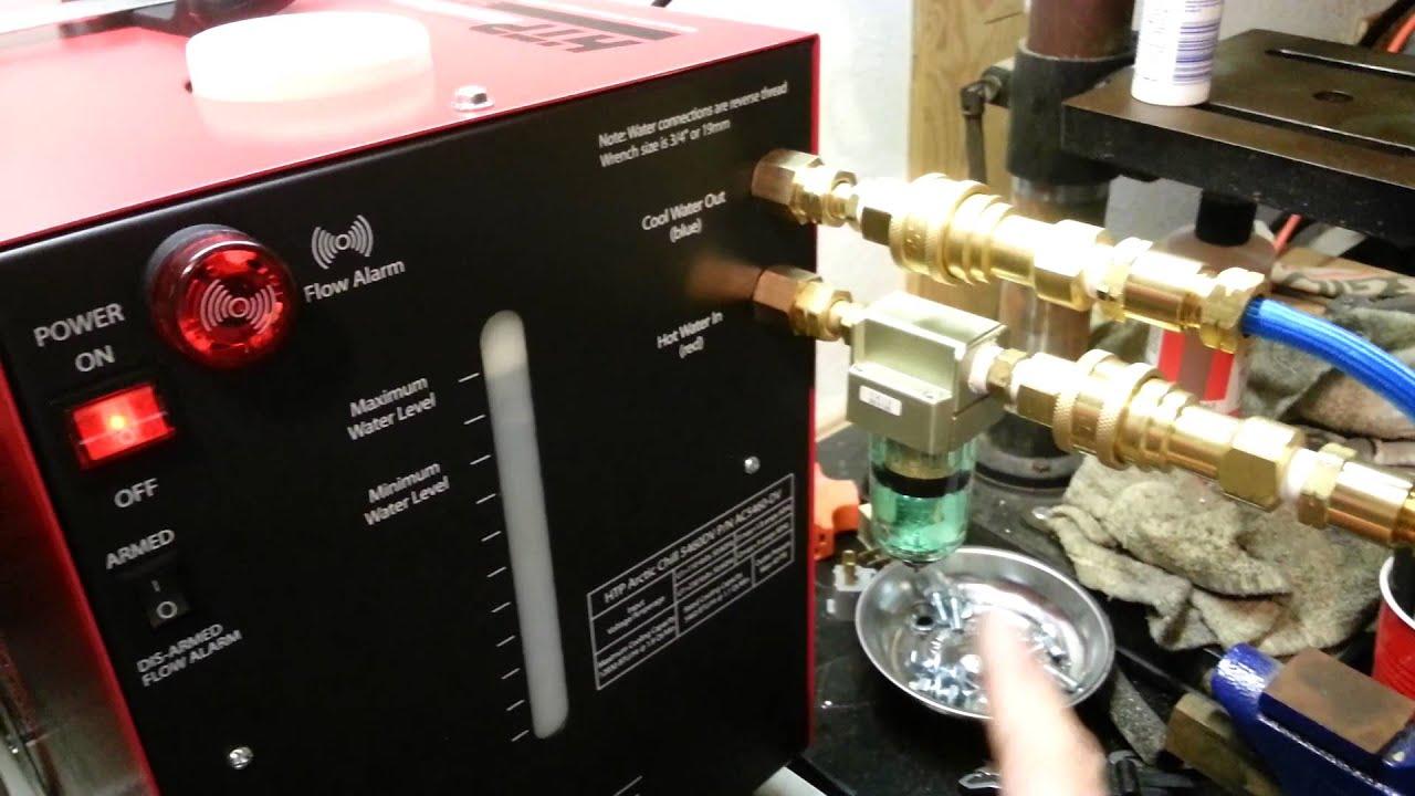 Tig H2o Cooler Quick Disconnect Youtube