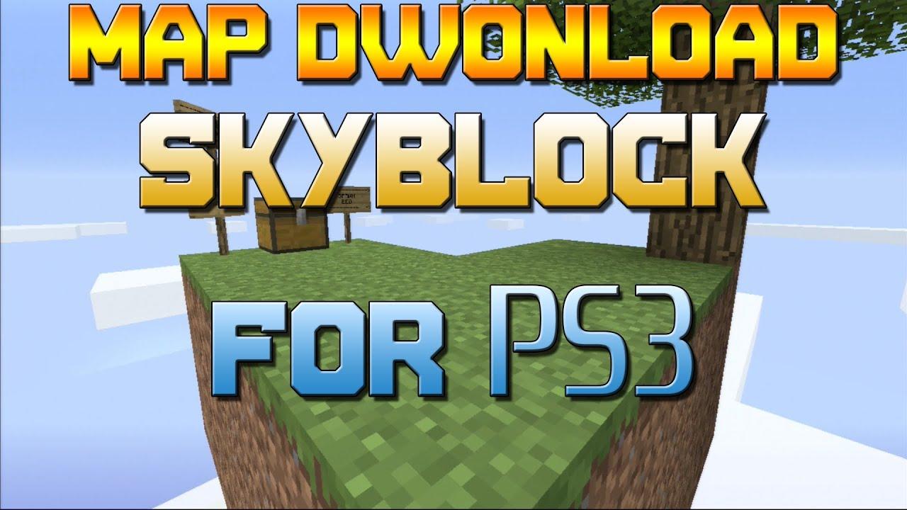 Minecraft PS SkyBlock Map Dwonload YouTube - Minecraft maps fur ps4 deutsch